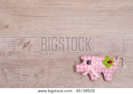 Pink Pig As Lucky Charm
