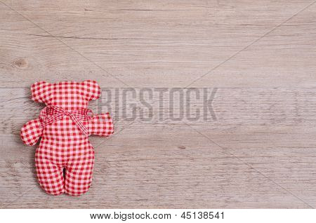 Red Checkered Toy Bear
