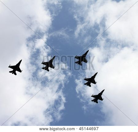 Five Jet Fighters
