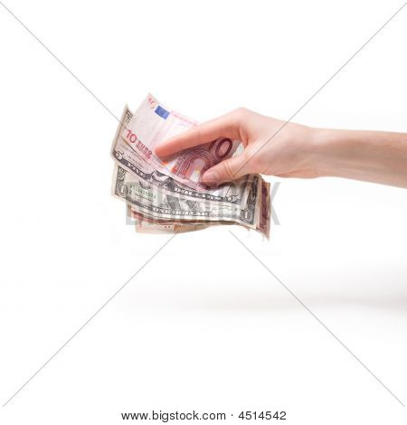 Hand With A Money Holding