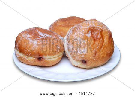 Three Jam Doughnuts