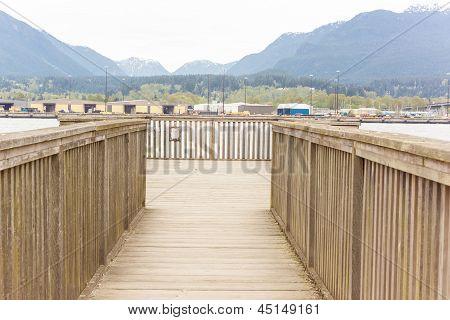 Burrard Inlet View From Wooden Bridge