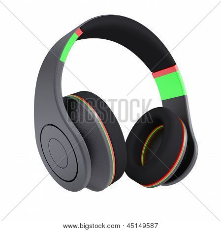 Stylish black headphones