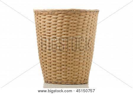 Wickerwork Paper Bin