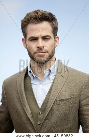 BERLIN - APR 28: Chris Pine at the Star Trek - Into Darkness Photo Call on April 28, 2013 in Berlin, Germany