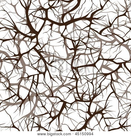 Seamless Pattern, Interlacing Of Branches