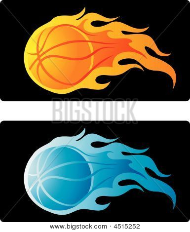 Flaming Basketball