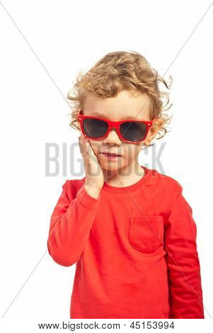Kid Boy With Sunglasses