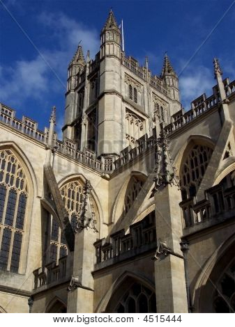Gothic Cathedral At Bath Spa In South West England