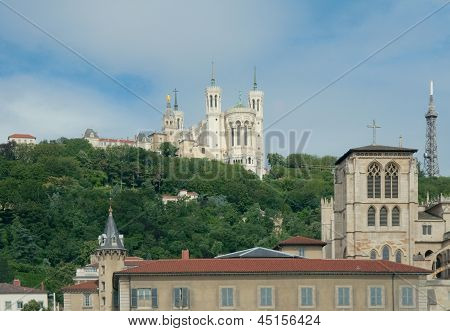 View Of The Fourvi�re Hill In Lyon