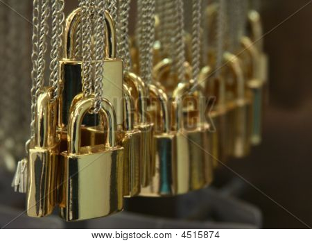 The Golden Padlocks In The Shop
