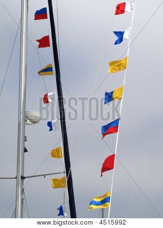 Colorful Nautical Flags