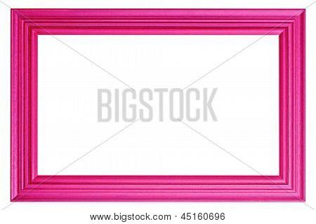 Pink Wood Frame.