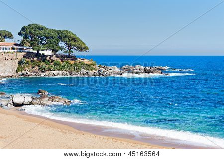 Typical Beach In The Costa Brava, Catalonia, Spain