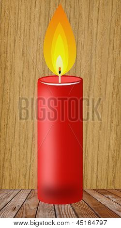 Conflagrant Candle Of Red Color