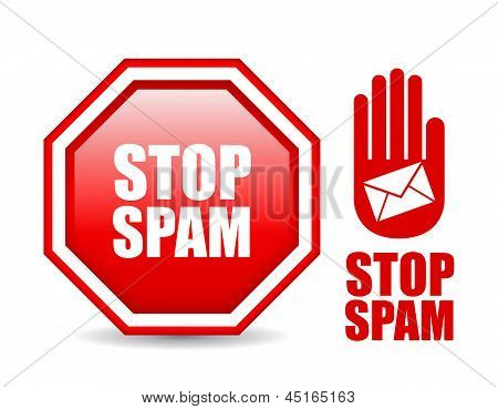 Stop spam signs