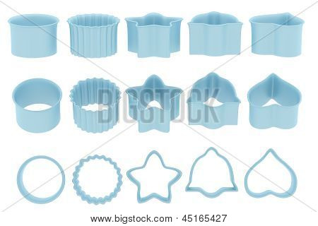 Blue baking Form Set