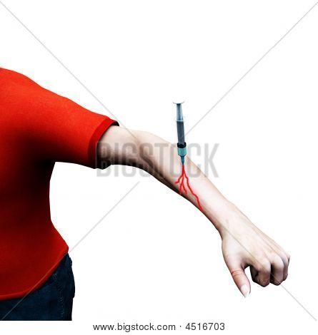 Needle In Mans Arm