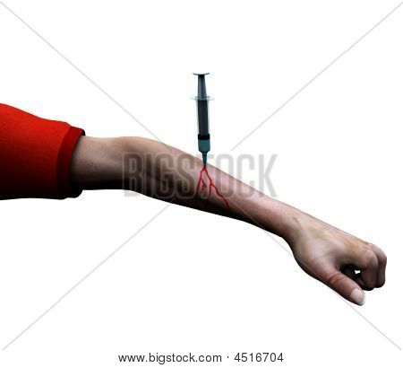 Needle In Mans Arm