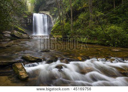 Looking Glass Falls North Carolina Blue Ridge Parkway Waterfalls Brevard Nc