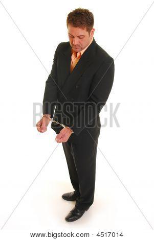 Handcuffed Business Man