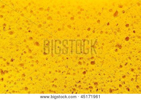 Gelbe Schwamm Textur