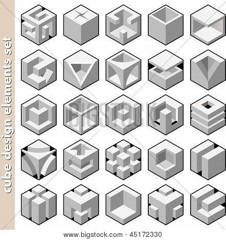 3d cube set