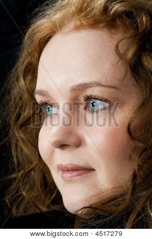 Portrait Of A Beautiful Blue Eyed Woman