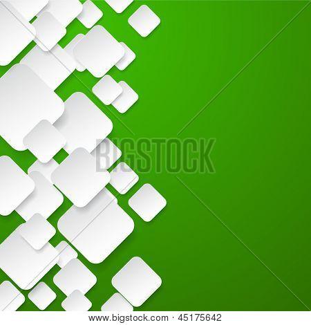 Abstrato vetor composto por notas de papel branco sobre verde. Eps10.