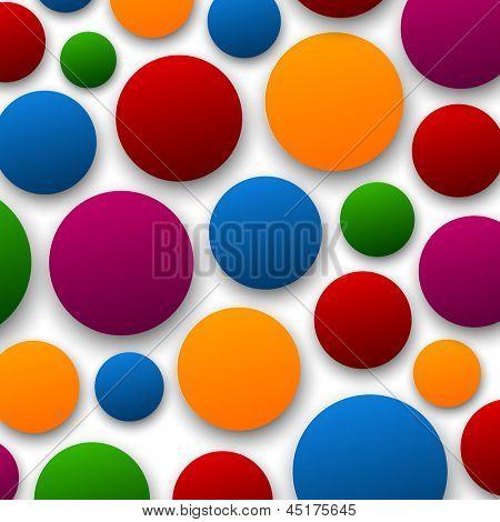 Vetor abstrato composto de bolhas de papel de cor. Eps10.