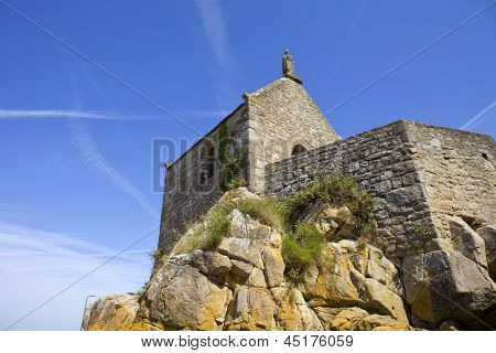 Saint Aubert Chapel, in Mont Saint Michel, France