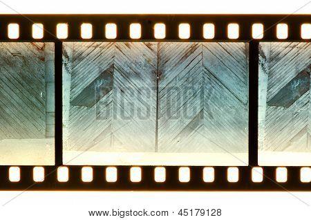 Vintage Door And Wall On Film Strip