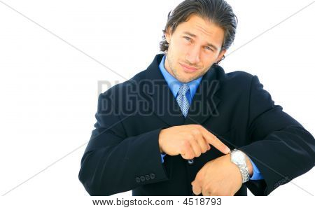 Disappointed Young Male Businessman