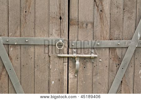 Old Double Wooden Door