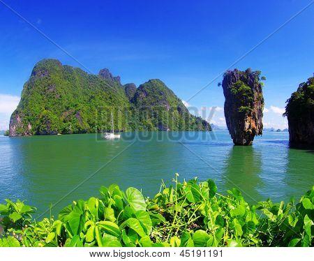 james bond island in thailand, ko tapu