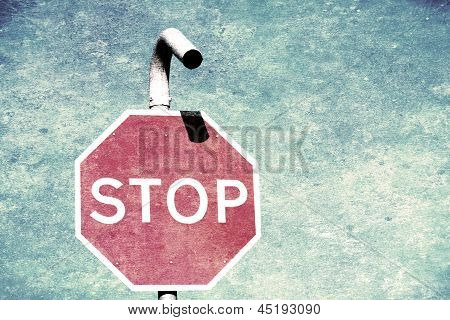 Vintage Grunge Stop Sign
