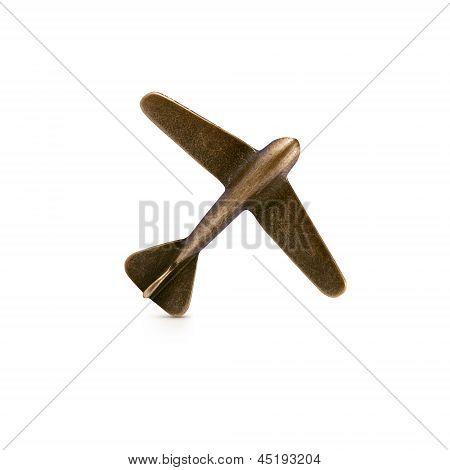 Bronze Airplane Symbol