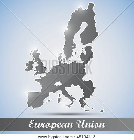 shiny icon in form of European Union