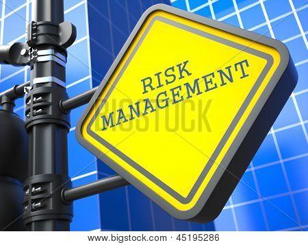 Business Concept. Risk Management Waymark.