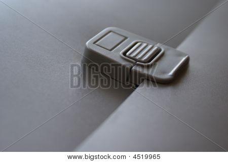 Dark-grey Folder With A Lock