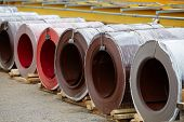 Galvanized coils and Prepainted Galvanized coils lying in stock