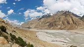 picture of skardu  - Braldu River Valley in the Karakorum Mountains in Pakistan - JPG