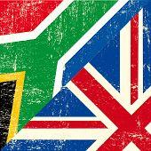 Постер, плакат: Гранж флаг Английский и Южной Африки Этот флаг представляет связь между Союзом Великобритании и S