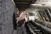 stock photo of movable  - Longwall Mining - JPG