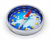 stock photo of wind-rose  - European Union political concept - JPG