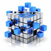 picture of cube  - Creative business teamwork - JPG