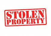 stock photo of stolen  - STOLEN PROPERTY Rubber Stamp over a white background - JPG