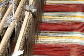 picture of handloom  - a the old loom in china  - JPG