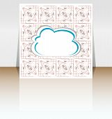 Abstract Speech Bubble In Cloud Shape, Cover Design