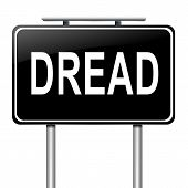 stock photo of dreads  - Illustration depicting a sign with a dread concept - JPG